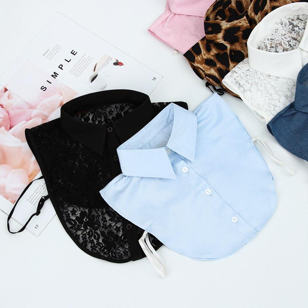 1PC Classic Shirt Fake Collar Blouse Detachable False Collar Lace Black/White Vintage Lapel Women Men New Clothes Accessories