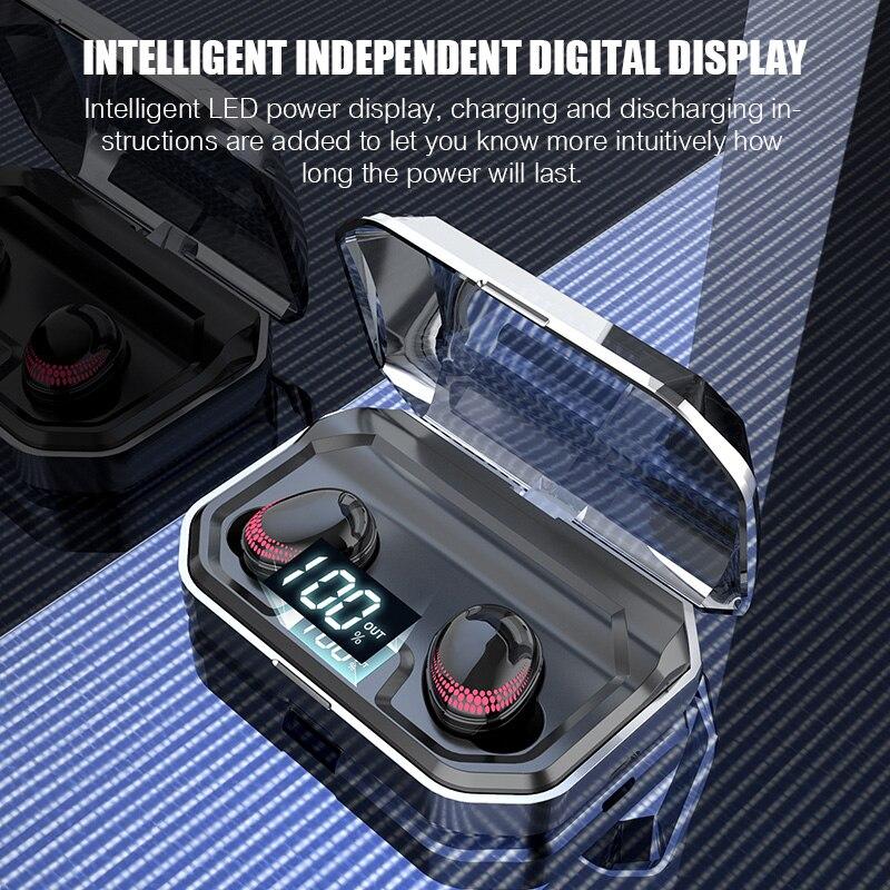 Auriculares Bluetooth 5,0 TWS auriculares deportivos auténticos auriculares inalámbricos con Control táctil 8D auriculares estéreo impermeables para teléfonos - 3