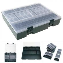 Large  Capacity Carp Fishing Tackle Box with Ruler Built-in 6 Separate Small Boxes Ideal for Athletics Leisure Carp Fishing