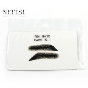 Image 3 - Neitsi Mans One Pair Fake Eyebrows 100% Human Hair Fake Eyebrows Lace Base M1002