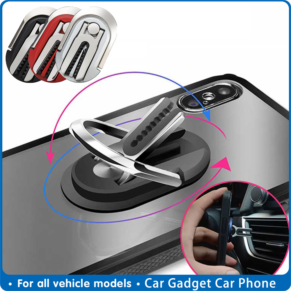 Car Gadget Auto Phone Holder Air Vent Car Phone Holder Rotatable Bracket Car Mobile Phone Ring Holder Buckles Auto Accessories