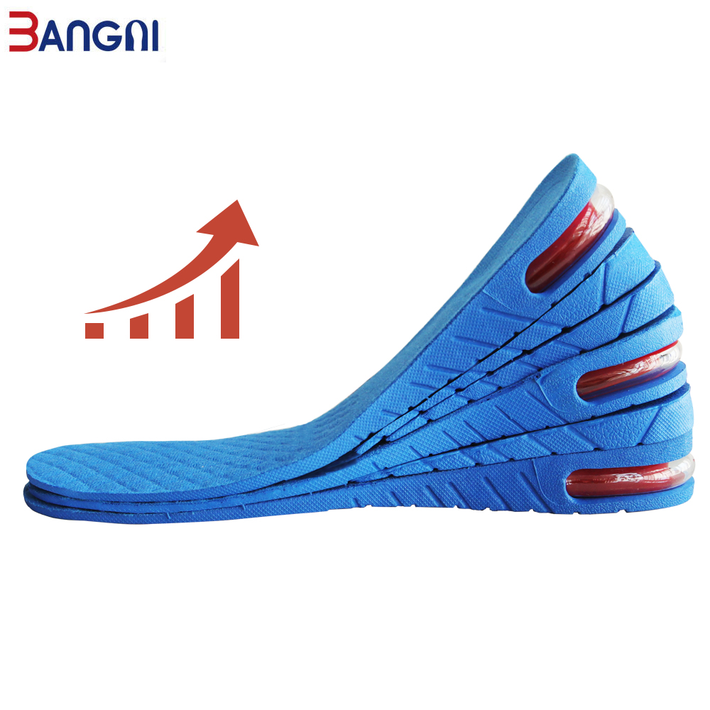 3ANGNI Height Increase Elevator Insole Cushion Lift Adjustable Size 3CM 5CM 6.5CM Shoe Insole Women Men High Quality PVC Insert