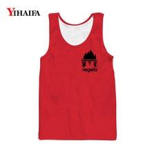Hipster Mens Tank Top Slim Fit Gym Vest 3D Print Dragon Ball Z Super Vegeta Cartoon Sleeveless Shirts Summer Anime Tops