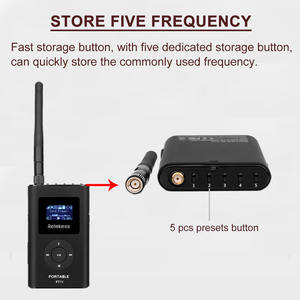 Image 4 - 1 FM Transmitter FT11+10Pcs FM Radio Receiver PR13 Wireless Voice Transmission System For Guiding Church Meeting Training