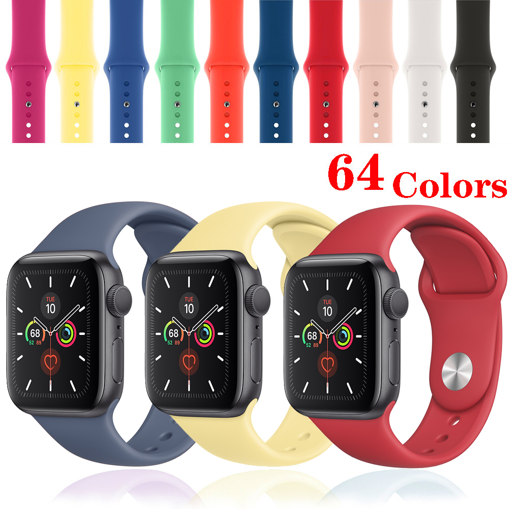 Strap For Apple Watch Band 44mm Correa Apple Watch 4 5 3 2 Iwatch Band 42mm 38mm 40mm Bracelet Silicone Watchband Accessories 44
