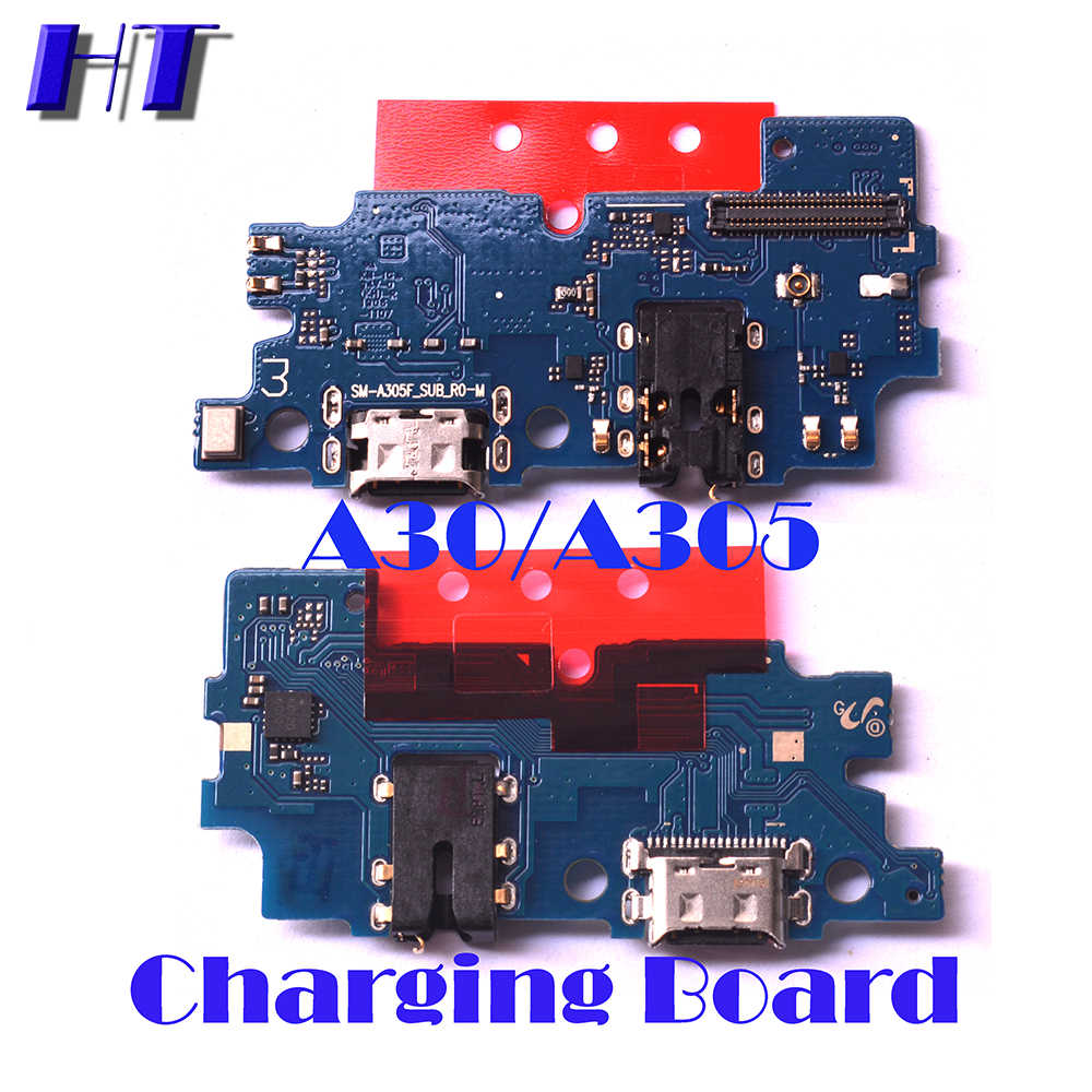 Voor Samsung Galaxy A30 A305F A305DS A305FN Power Volume Zijknop Strip Mainboard Lcd Usb Charing Board Microfoon Flex Kabel