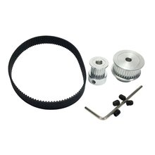 цена на 2GT Timing Belt Pulley Kit Closed Loop Timing Belt Length 180mm Width 9mm Pulley 20 and 40 Teeth Shaft Center Distance 60mm