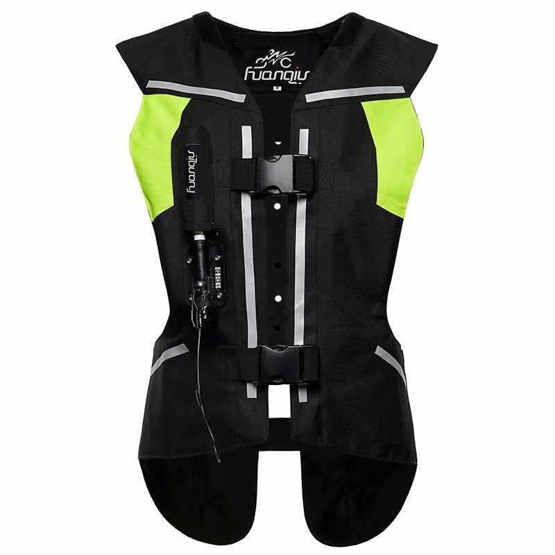 Moto rcycle airbag gilet hommes Moto Racing airbag réfléchissant système femmes Locomotive moto cross protection airbag noir Fluorescent