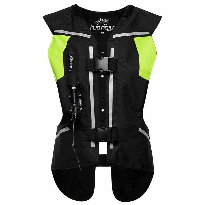 Moto rcycle airbag gilet Moto Racing airbag réfléchissant système moto cross protection airbag noir Fluorescent