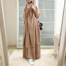 Abaya pour femmes musulmanes, ensemble de robes de prière, Hijab, pour Ramadan, dubaï, turquie, aide Moubarak, Islam, Jilbab, Djellaba