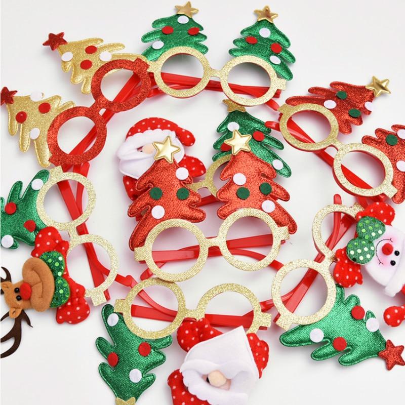 Christmas Ornaments Adult Children's Toys Christmas Glasses Santa Snowman Antlers Glasses Christmas Decoration Glasses