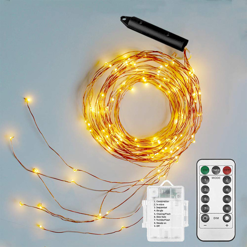 5 Strands Battery Fairy String Lights Twinkling Waterfall Garland Lights For Home Holiday DIY Christmas Decoration