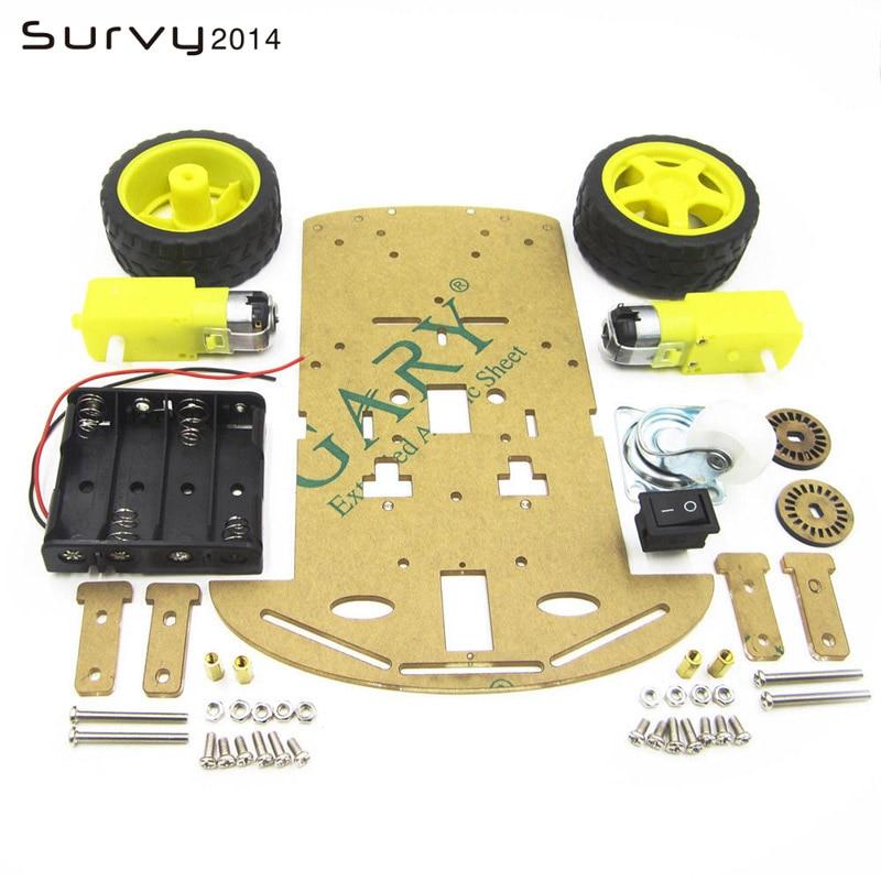 Купить умный робот автомобильный комплект шасси датчик скорости батарейный