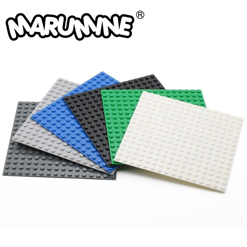 MARUMINE Plate 16x16 Dots Base Plate Blocks City Compatible DIY Classic Educational Building Bricks Set