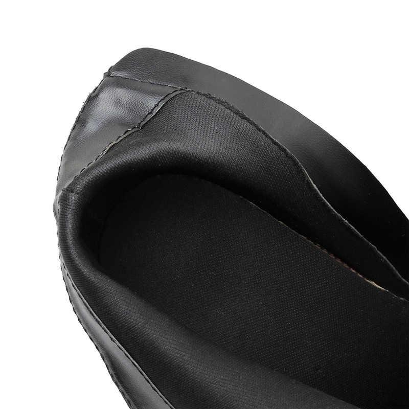 2019 kobiet krótkie botki 11.5cm wysokie obcasy fetysz szczypce do zdejmowania izolacji buty Prom walki bloku szpilki gruby Zip Sexy Plus rozmiar 42 buty