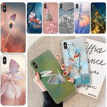 Ljhydfcnb Graceful Vlinder Soft Shell Telefoon Case Capa Voor Iphone 6 6 S Plus 7 8 Plus X Xs Xr xs Max 11 11 Pro 11 Pro Max Cover(China)