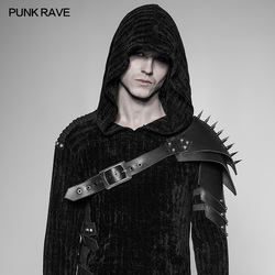 PUNK RAVE Punk Cone Nail Armor Punk Stijve Dikke PU Leer Materiaal Cosplay Stage Performance Heren Accessoires