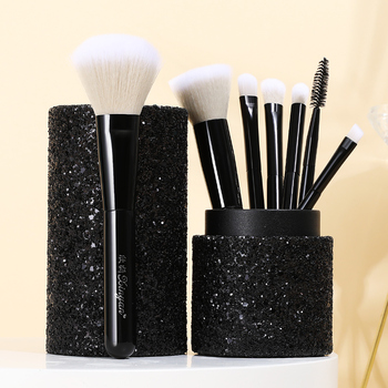 XINYAN Candy Makeup Brush Set Pink Blush Eyeshadow Concealer Lip Cosmetics Make up For Beginner Powder Foundation Beauty Tools 4