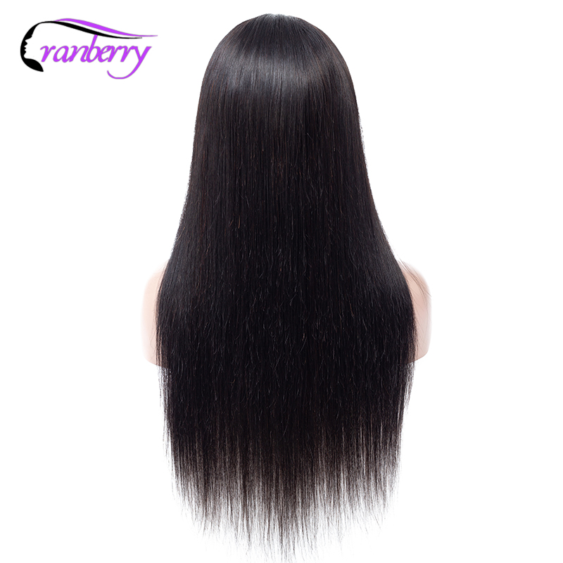 Cranberry Hair 4X4 Closure Wig 100% Remy Hair Brazilian Wig Lace Closure Wig Straight Human Hair Wigs For Black Women 10 24 Inch-in Lace Front Wigs from Hair Extensions & Wigs    2
