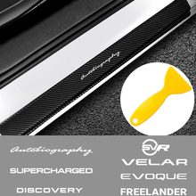 For Land Rover Autogiography Supercharged Discovery Velar Evoque Freelander SVR 4PCS Car Door Sill Scuff Plate Stickers Decal