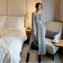Женское винтажное платье макси rugod элегантное с v образным