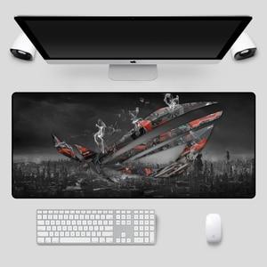 Image 3 - Fashion 90x40cm Large ASUS Gaming Mousepad  Republic Of Gamers Keyboard Pad  Locking Edge Rubber Laptop Notebook Desk Mat