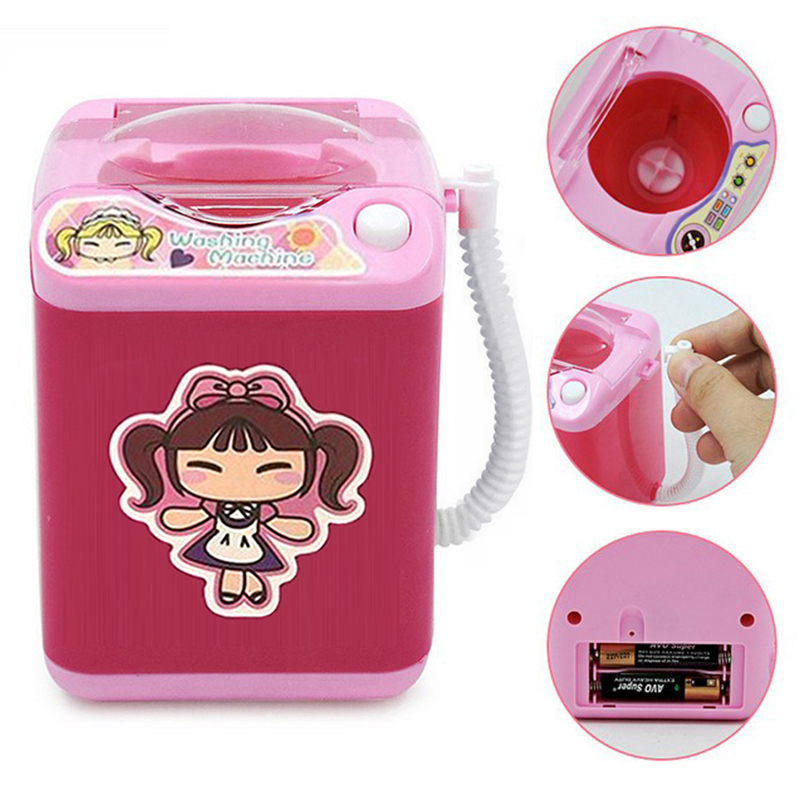 Mini Electric Cleaner Washing Machine Dollhouse Wash Beauty Blender Cleaning Makeup Organizer Educational Equipment DropShipping