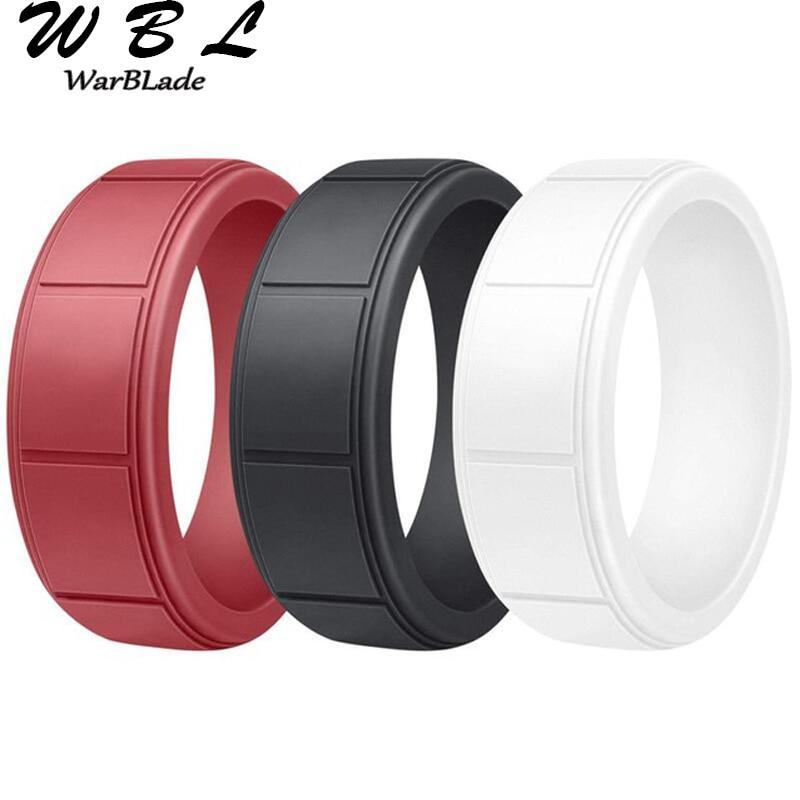 Модные обручальные кольца, силиконовые кольца, мужские резинки, мужские гипоаллергенные Эластичные Силиконовые обручальные кольца