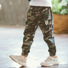 Camouflage Boys Trousers Boys Pants Casual Cotton Print Mid Elastic Waist Harem Kids Pants Boy Children Pants Blue Green Army camouflage boys trousers 2018 new casual cotton print mid elastic waist harem pants for boys children pants blue green army p300