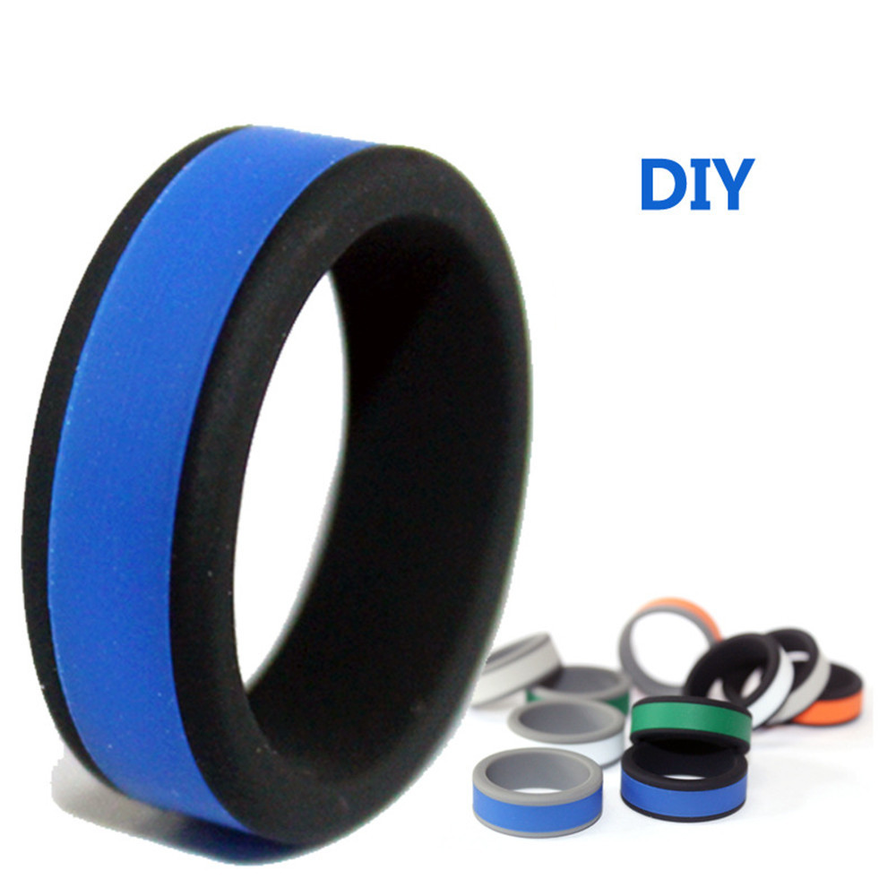8mm Silicone Ring Hypoallergenic Crossfit Flexible Sports Rings DIY Your Personality Rubber Finger For Men Women