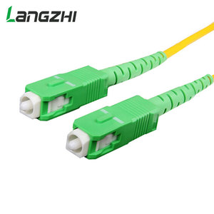 Image 4 - 10 sztuk/worek Sc Apc 3m Simplex tryb światłowodowy kabel krosowy Sc Apc 2.0mm lub 3.0mm włókien światłowodowych Ftth kabel Jumper