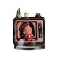 Ceramic Backflow Incense Burner Censer Holder Incense Cone Holder Aromatherapy Furnace Aromatic Christmas Home Office Decor