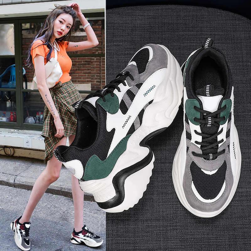 MBR BUỘC Phụ Nữ 2020 Mới Chun Giày Cho Vulcanize Giày Thời Trang Bố Giày Nền Tảng Giày Femme Giày người phụ nữ