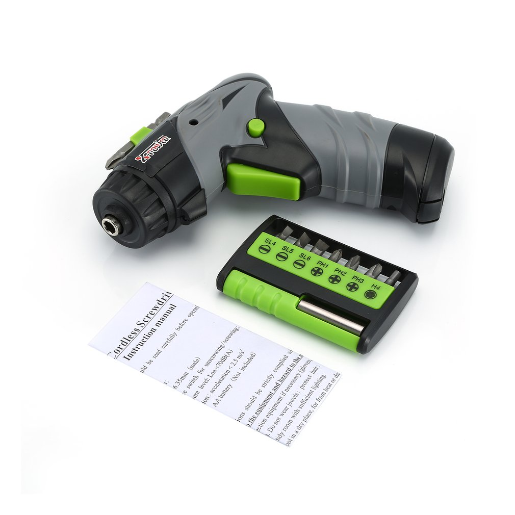 X-power Dry Battery Electric Cordless Screwdriver Set Mini Screw Driver Drill Hardware Tool Household DIY Tools