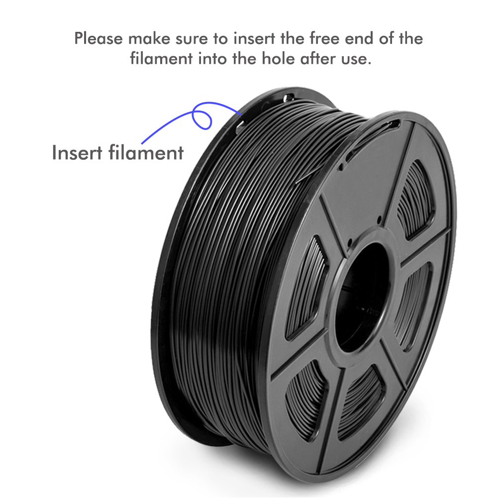 cheapest SUNLU PETG 3D Printer Filament 1 75mm Dooling Gift Material Hot Sale Black Color PETG 3D Filament Consumables 1KG 2 2LBS