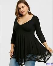 Женская хлопковая блузка с длинным рукавом элегантный свободный
