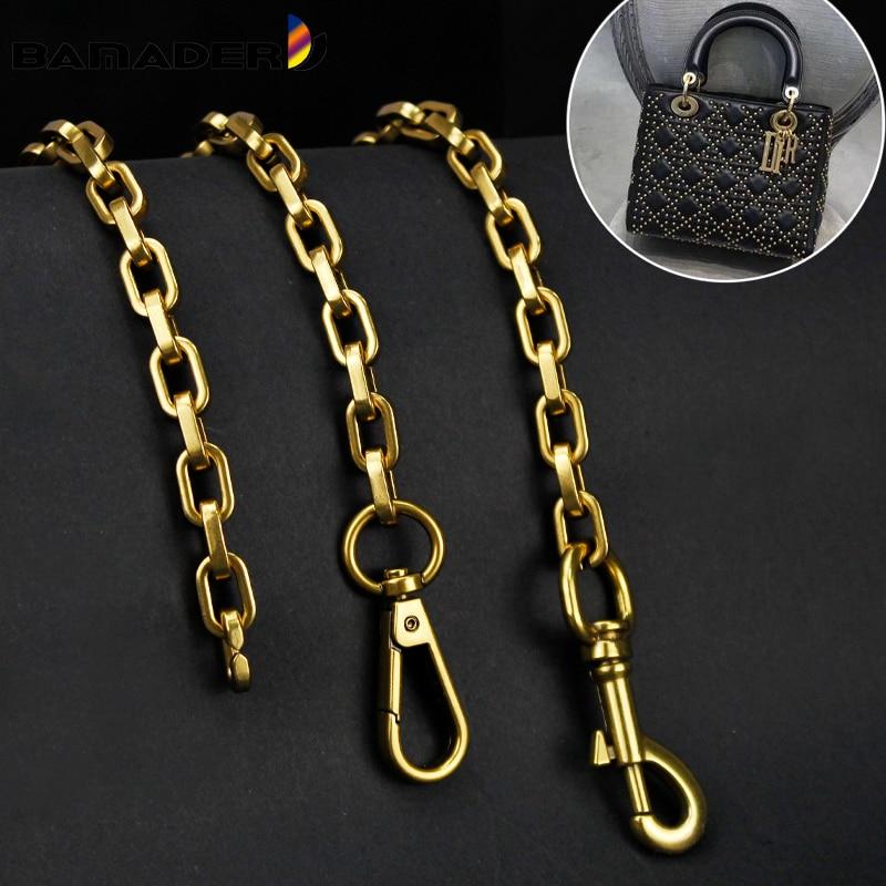 DIY Handbag Bag Chain Strap BAMADER Thick Chain Bag Straps For Shoulder Crossbody Bags Metal Shain Parts Vintage gold/Gun/Silver