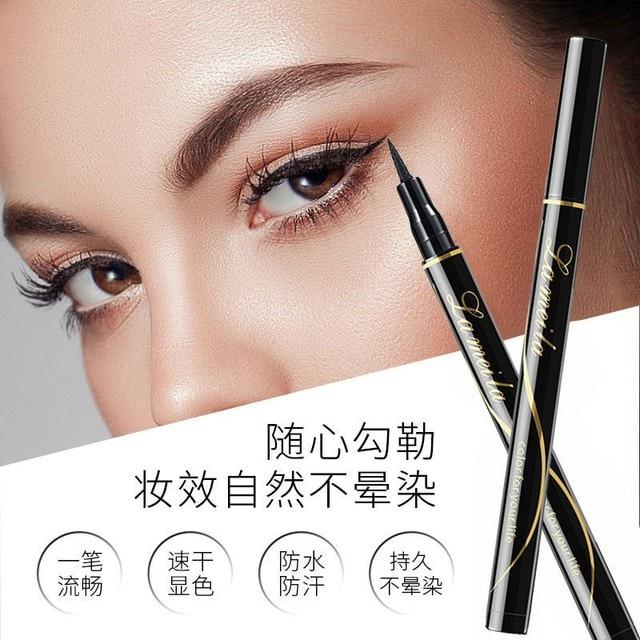 Waterproof Black Liquid Eyeliner Pencil Big Eyes Makeup Long-lasting Eye Liner Pen Make up Smooth Fast Dry Cat Eye Cosmetic Tool 4