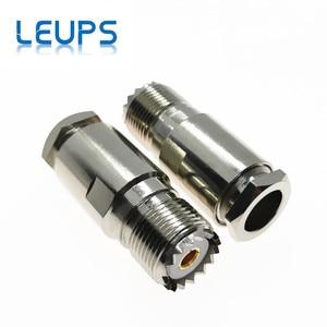 Image 1 - 10 sztuk żeńskie UHF SO239 Jack zacisk RG8 LMR400 RG213 RG214 RG165 kabel rf złącze