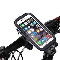 Suporte de montagem do telefone à prova dwaterproof água para bicicleta da motocicleta guiador caso saco à prova de choque celular celular titular para iphone 8 7
