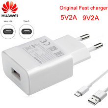 Huawei original carregador 5v2a 9v2a adaptador de alimentação micro tipo-c cabo de dados para p6 p7 p8 p9 p10 lite mate 10 lite honra 5a 5c 6x 7x