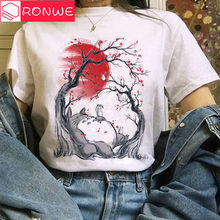 T-shirt dessin animé pour femmes, humoristique et mignon, Totoro Studio, Ghibli, Harajuku, Kawaii, Ullzang, Miyazaki, Hayao