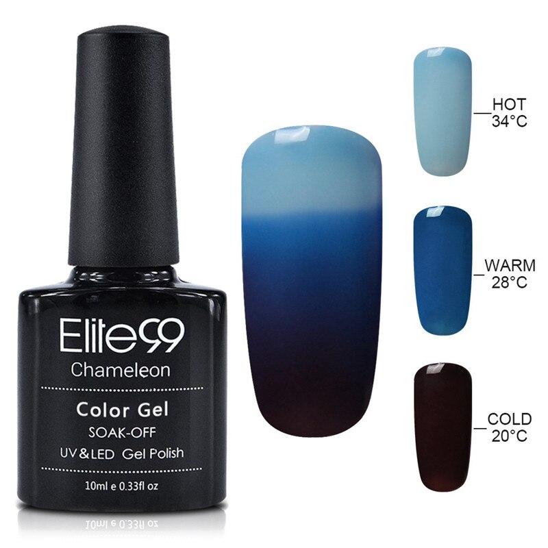 Elite99 10ml Thermal Gel Polish Temperature Change Color Nail Gel Polish UV Gel Varnish Enamel Semi Permanent Nail Art Manicure