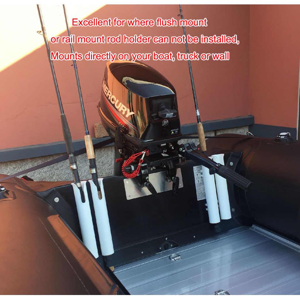 Soporte de plástico ABS adhesivo 2x3M para caña de pescar, accesorios giratorios, soporte de tubo de poste duradero sin agujero