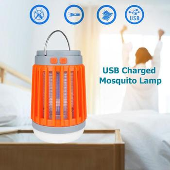 Solar Mosquito Killer Lamp Waterproof Insect Fly Bug Trap Light Flashlight Mosquito Zapper Light For Bedroom, Garden,Camping 2