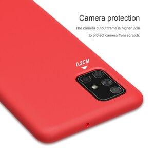 Image 2 - Per Samsung Galaxy Caso Involucro A51 NILLKIN Liquid Smooth Custodia In Silicone Per Samsung Galaxy A71 A51 Della Copertura di Lusso di Protezione Borse