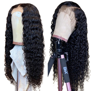 Image 2 - 13x4 Brazilian Hair Deep Wave Lace Front Wigs 8 24 Glueless Curly Lace Front Human Hair Wigs Alimice Remy Wig For Black Women