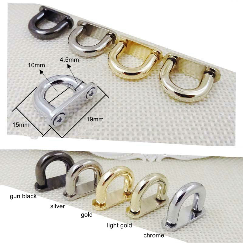 30pcs 4colors Inside Width 10mm DIY Handbag/bag Silver Metal Accessories Bridge Connector Hanger