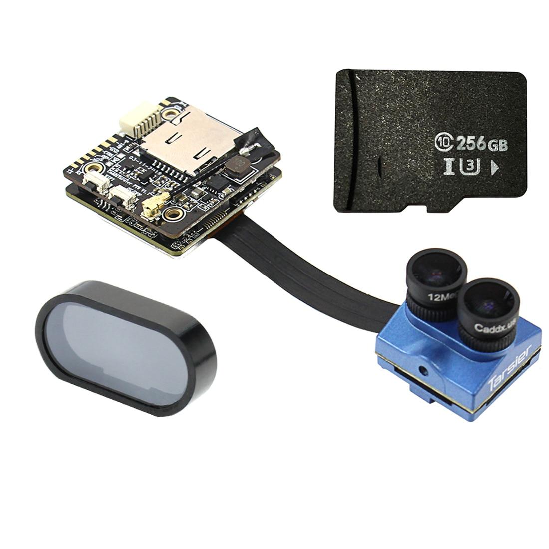 Caddx Tarsier 4K 1200TVL double lentille Super WDR WiFi FPV caméra HD enregistrement DVR Audio OSD 256GB ND filtre pour Drone RC Cinewhoop