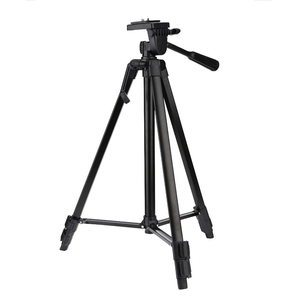 Tripod Aluminum Alloy Professional Portable Travel SLR Camera Tripod with 3-way Head for Canon Nikon Mobile Phone